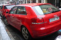 rotes Auto, Audi